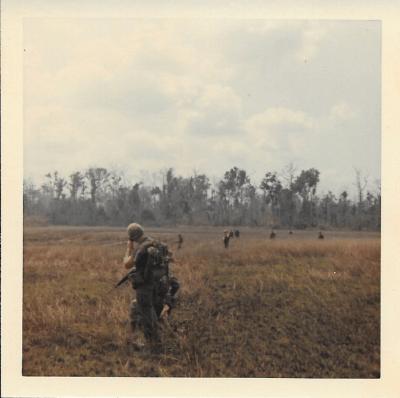 Awaiting-Extraction-Jim-on-radio-400x398 Sergeant James Braun